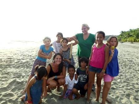 Family volunteering in Costa Rica