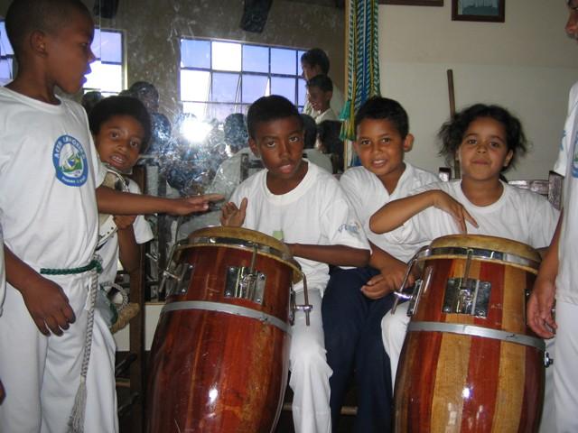 Capoeira dancing at ACER