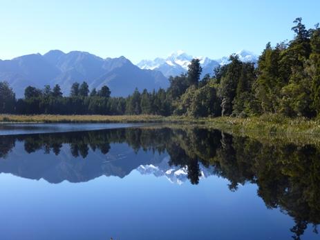 Reflections at Lake Matheson, New Zealand