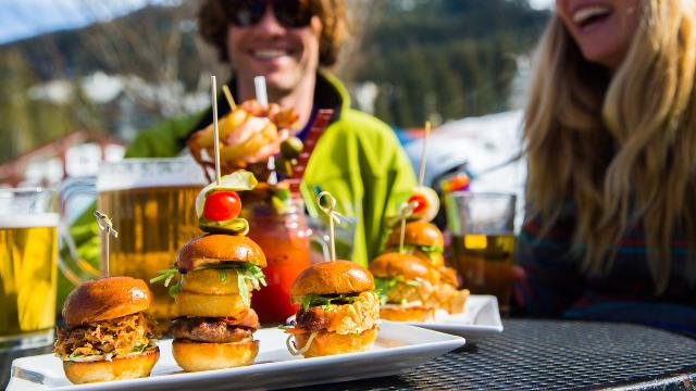 Slider Burgers at Merlin's Bar and Grill Whistler