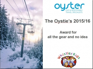 One of the awards given at the 'Oysties'