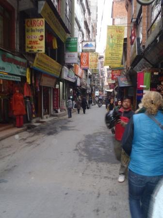 The streets of Thamel, Kathmandu