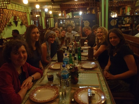 The Oyster Nepal 2011 group leaving meal
