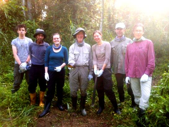 Volunteers help with forestation work in Borneo