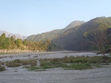 A view of the Trisuli River