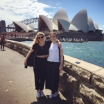 Girls in front of the Sydney Opera House