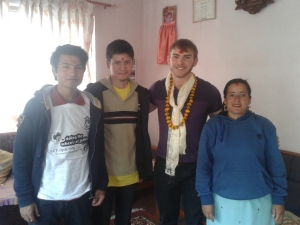 Samuel with his Nepali family small