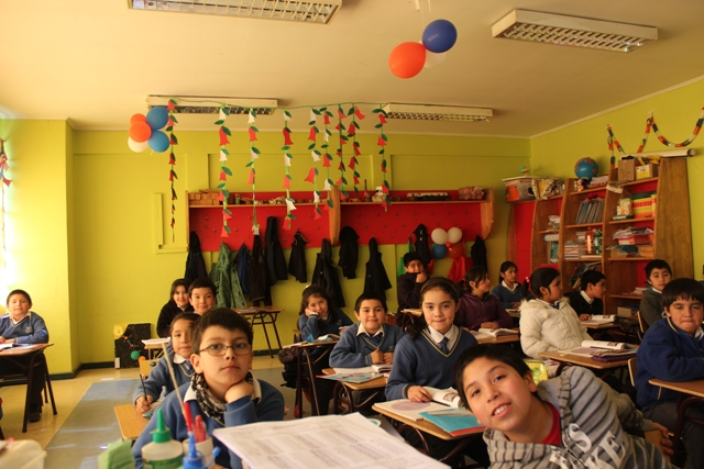 School children in Chile