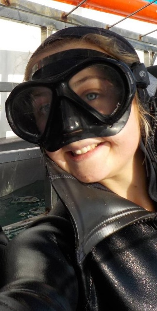 Shark diving selfie