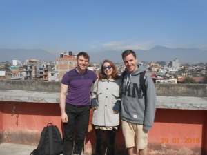 Volunteers sightseeing in Kathmandu
