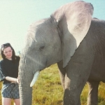 Sophie Rainbow- volunteer with elephants