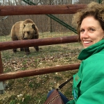 Susan Petty - volunteer with bears in Romania
