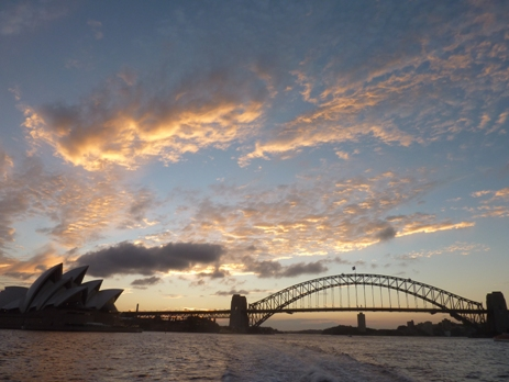 Sunset over Sydney Harbour, Australia