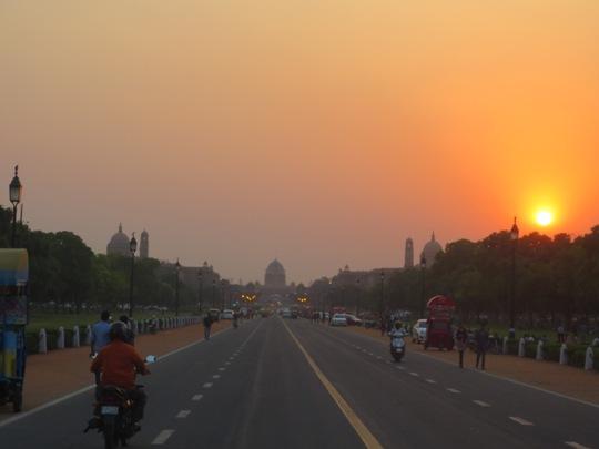 Sunset in Delhi