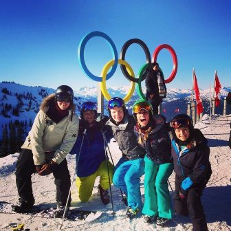 Whistler group with Olympic Rings