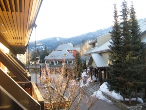 Balcony view from Blackcomb Lodge