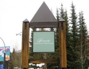 Fairmont Chateau Whistler signage