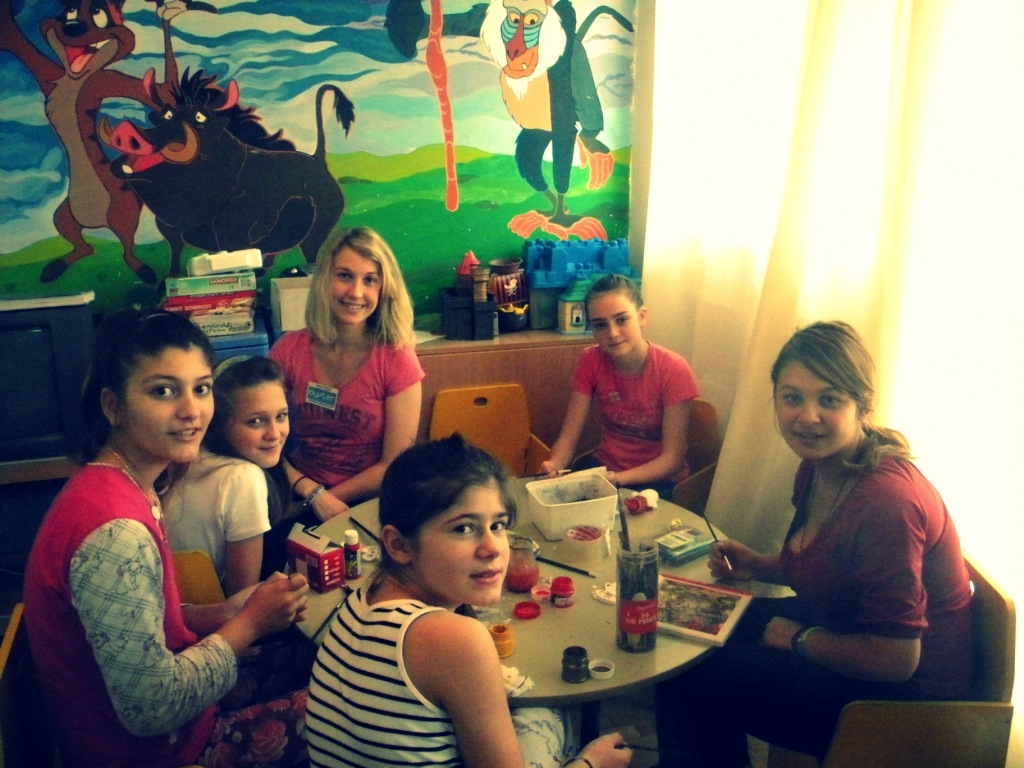 Working with children in Romania in the children's hospital