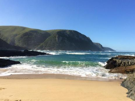 Stunning coastline on the Garden Route in South Africa