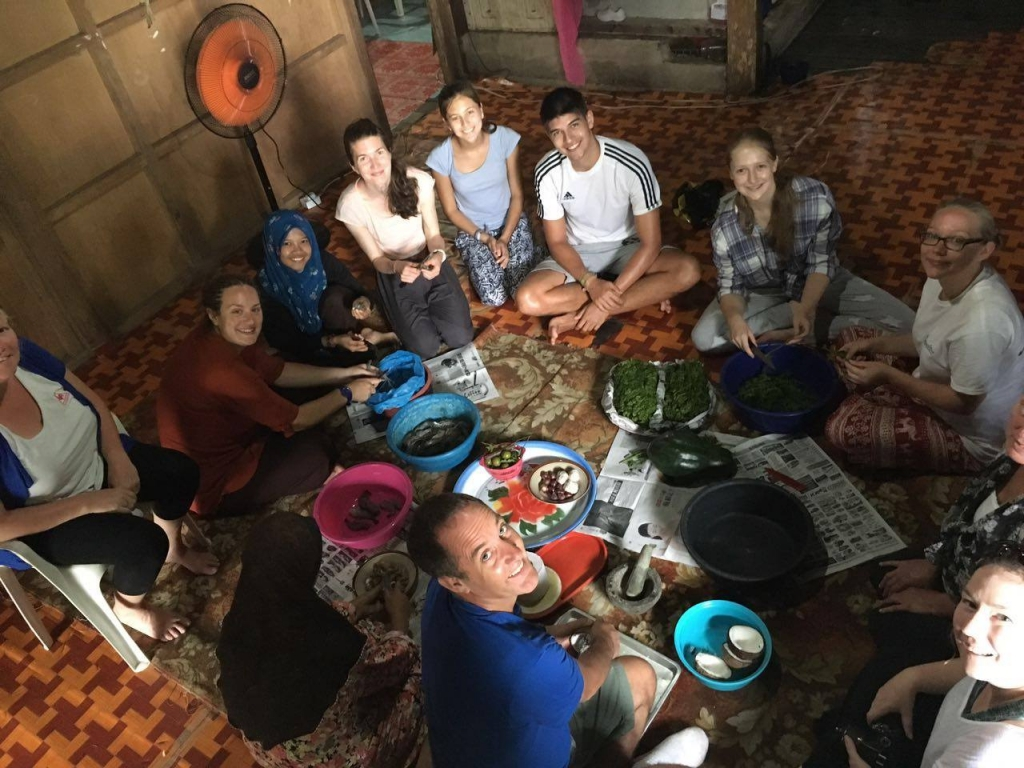 Cooking lesson in Borneo