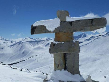 Inukshuk in Whistler mountain