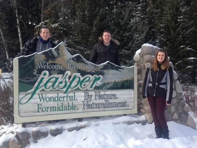 Group by the Jasper sign