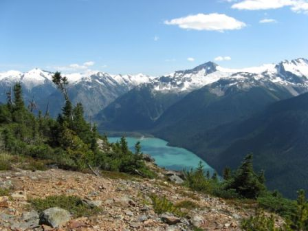 Summer view of Whistler's mountains